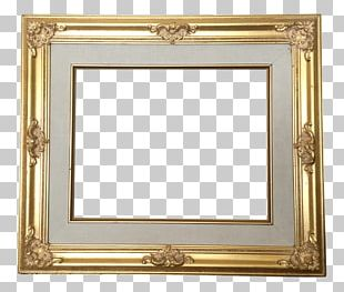 Frames Table Baroque Gold PNG
