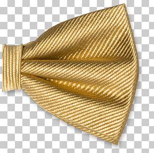 Bow Tie Necktie Gold Silk Einstecktuch PNG