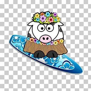 Surfing Sticker PNG