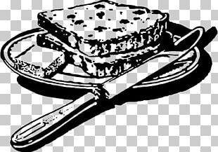 Bread Black And White Food PNG