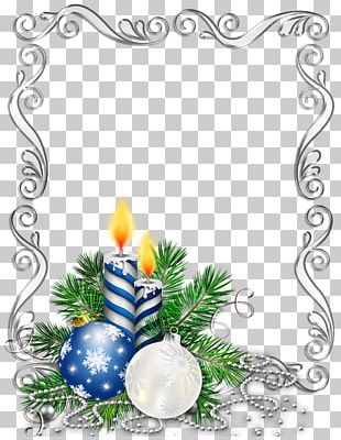 Christmas Ornament Candle Frames PNG