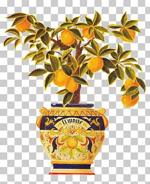 Italy Tapestry Lemon Wall Decal PNG