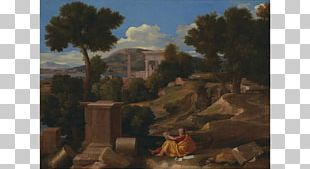 Landscape With Saint John On Patmos Art Institute Of Chicago Landscape Painting PNG