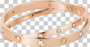 Love Bracelet Cartier Bangle Diamond Gold PNG