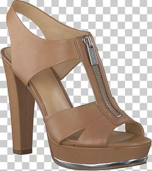Footwear High-heeled Shoe Sandal Brown PNG