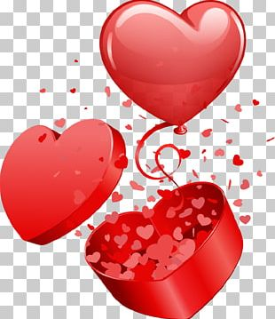 Valentine's Day Balloon Gift PNG
