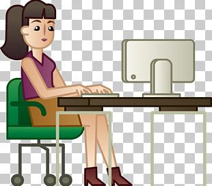 Woman White-collar Worker Computer PNG
