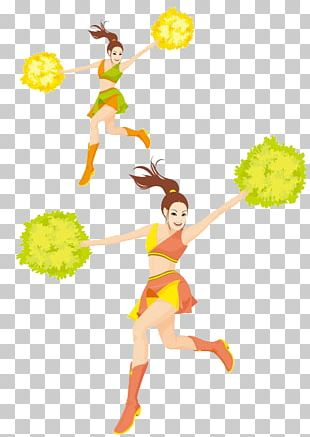 Cartoon Cheerleader Dance PNG
