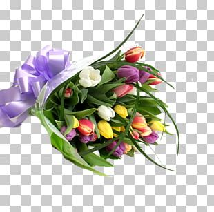 Flower Bouquet Tulip Cut Flowers Floral Design PNG