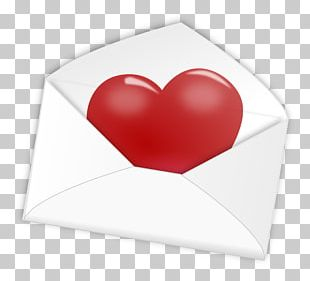 Heart Love Letter Paper PNG