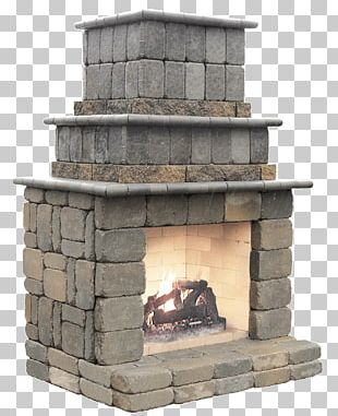 Outdoor Fireplace Kitchen Patio Fireplace Mantel PNG