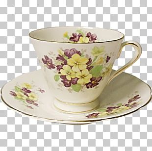 Coffee Cup Saucer Porcelain Teacup Bone China PNG