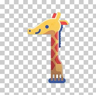 Northern Giraffe Cartoon Illustration PNG