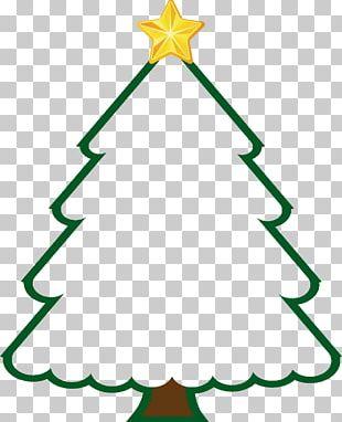 Christmas Tree Green Line PNG