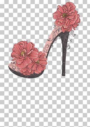 High-heeled Footwear T-shirt Flower PNG