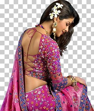 Priyanka Chopra Sari Backless Dress Blouse Actor PNG