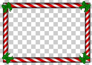 Candy Cane Borders And Frames Christmas Frames PNG