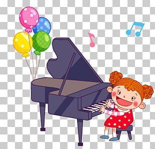 Piano Cartoon Illustration PNG