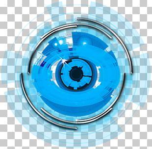 Technology Eye Body Worlds Blue System PNG