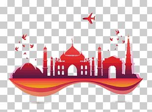 India Tourism Euclidean Skyline PNG