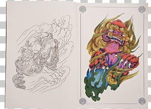 Sleeve Tattoo Irezumi Chinese Guardian Lions Flash PNG