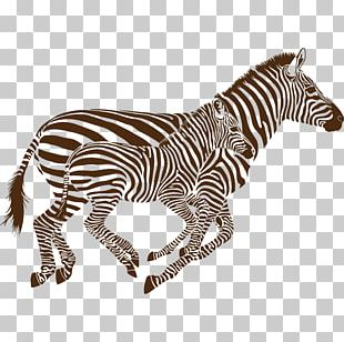 Quagga Phonograph Record Zebra Sticker PNG