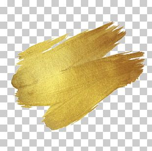 Brush Paint Gold Drawing PNG