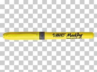 Bic Marker Pen Yellow Highlighter PNG