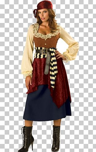 Halloween Costume Dress Woman Pirate PNG