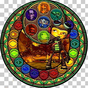 Stained Glass Kingdom Hearts II PNG