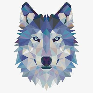 Geometric Wolf Avatar PNG