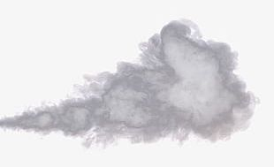 Gray Large Pieces Of Smoke PNG