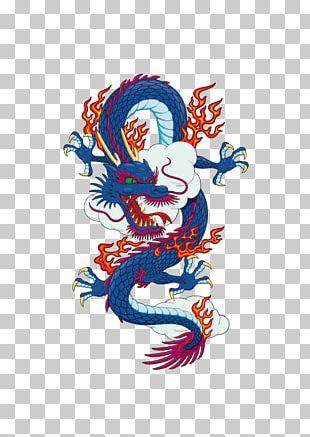 Blue Dragon PNG
