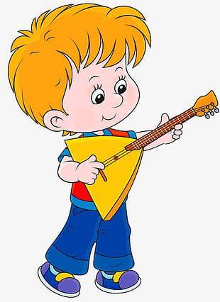 Boy Playing Guitar PNG