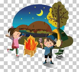 Illustration Campfire Photography Camping PNG
