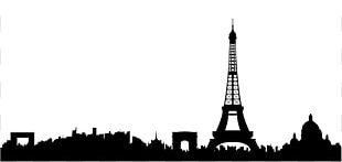 Paris Skyline Silhouette PNG