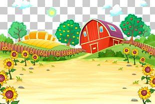 Farm Cartoon Illustration PNG