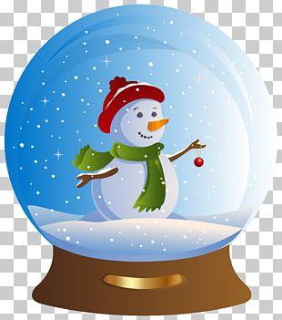 Snow Globe Snowman Santa Claus Christmas PNG