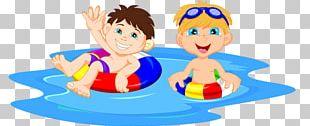 Swimming Pool Cartoon Boy PNG