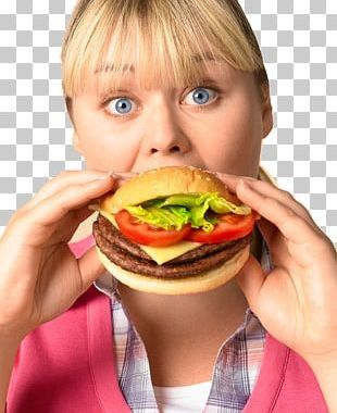 Hamburger Fast Food Junk Food Eating French Fries PNG