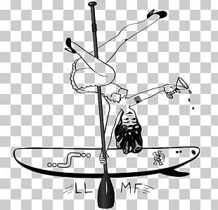 Paddleboarding Illustrator PNG