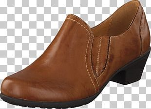 Slip-on Shoe Leather Walking Caramel Color PNG