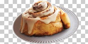 Cinnamon Roll Danish Pastry Sweet Roll Donuts Frosting & Icing PNG