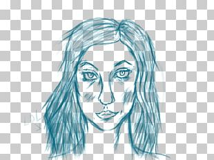 Line Art Drawing Face Sketch PNG