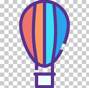 Hot Air Balloon Purple Violet Cobalt Blue PNG