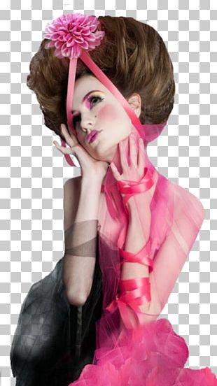Hair Coloring Wig Brown Hair Fashion Pink M PNG