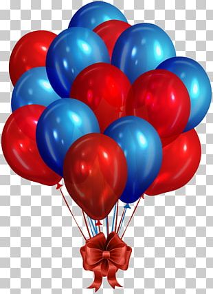 Balloon Blue Red Stock Photography PNG