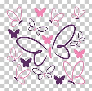 Color Drawing Butterfly Pink PNG