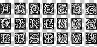 Decorative Letters Alphabet Illuminated Manuscript PNG