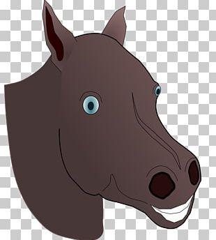American Quarter Horse Mustang Horse Head Mask PNG